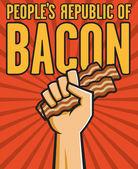 Volkeren republiek van bacon — Stockvector
