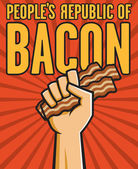 Peoples Republic of Bacon — Stock Vector