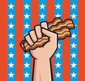 Amerykański boczek — Wektor stockowy