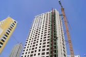 High rise buildings under construction — Stock Photo
