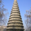 Stock Photo: Krasnoyarsk City Christmas Tree