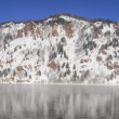Wonderful mountains on the Yenisei river shore (panorama) — Stock Photo