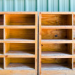 Empty wooden rack — Stock Photo