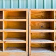 Stock Photo: Empty wooden rack