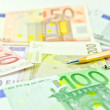 Euro money banknotes — Stock Photo