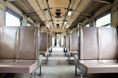 Inside empty train — Stock Photo