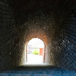 Ancient brick tunnel — Stock Photo