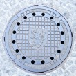 Manhole cover in Graz, Austria — Stock Photo #14886503