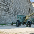 Decommissioned cannons in Budapest, Hungary — Stock Photo