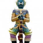 Old Thai giant sculpture on white background — Stock Photo