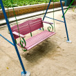 Wooden garden swing - Stock Photo