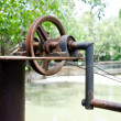 Stock Photo: Old style pulley