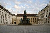 Amalienburg in Vienna with Renaissance Fountain — Stock Photo