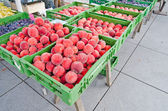 Fresh fruits at a market — Stock Photo