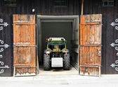Garage for the tractor parking — Stock Photo