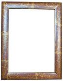 Ahşap çerçeve üzerine beyaz izole — Stok fotoğraf
