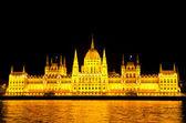 Parlamento húngaro en la noche — Foto de Stock