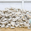 Pile of demolished house — Stock Photo