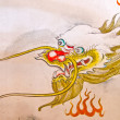 Chinese dragon painting on a wall — Stock Photo #31745129