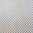 Seamless steel diamond plate texture  — Foto Stock