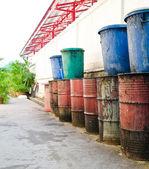 Tanque de combustible viejo y sucio — Foto de Stock