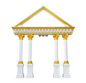 Roman columns gate isolated on white — Stock Photo