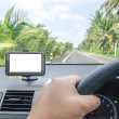 Car navigator with clipping path — Stock Photo