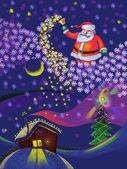Christmas and New Year, Santa Claus — Stock Photo