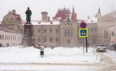 Heavy snow in central European Russia — Stock Photo