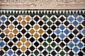 Colorida parede alhambra — Fotografia Stock