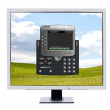 Royalty-Free Stock Photo: Monitor showing a software softphone
