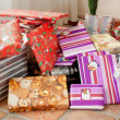 Colorful gifts for Christmas — Stock Photo