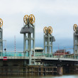 Vertical lift bridge — Stock Photo