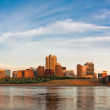 St Louis The Arch and Eads Bridge - Stock Photo