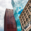 Chicago  skyline of South Wabash Avenue - Stock Photo
