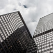 Office highrise buildings in the Chicago financial district - Stock Photo