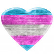 3D Transgender wooden heart — Stock Photo