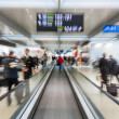 Rushing in airport gate - Stock Photo