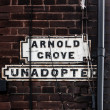 Liverpool famous street Arnold Grove Unadopted — Stock Photo