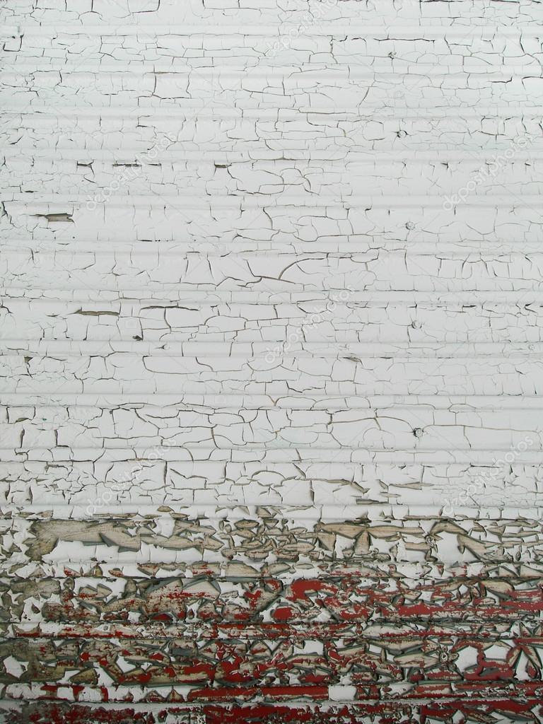 Oude gebarsten muur textuur: bruine en witte kleuren — Stockfoto ...
