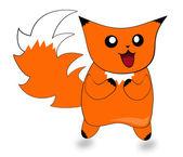 Astratto foto cartone animato con piccolo gatto di nome peega — Foto Stock