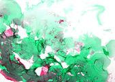 Abstract hand drawn paint background: green and red patterns — Stock Photo