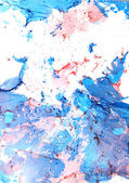 Abstract hand drawn paint background: blue and red patterns — Stock Photo