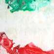 Abstract hand drawn paint background: red and green patterns — Stock Photo