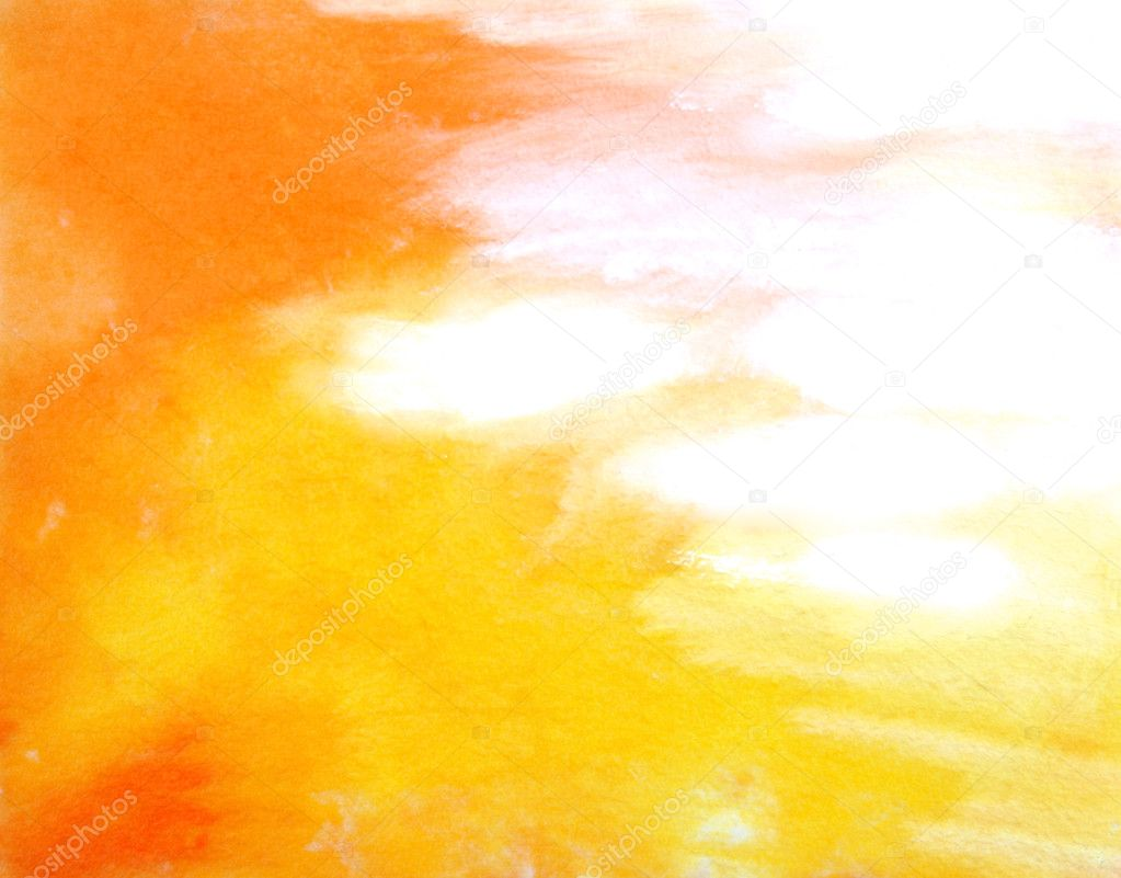 abstract hand drawn paint background yellow and red fire