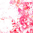 Abstract hand drawn painting / graphics: red and pink flower-like patterns — Stock Photo