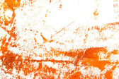 Abstract hand drawn painting / graphics: orange and brown patterns on white — Stock Photo