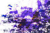 Abstract hand drawn painting / graphics: blue and brown patterns on white b — Stock Photo