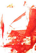 Abstract hand drawn painting / graphics: red frame patterns on white backgr — Stock Photo