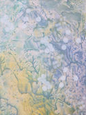 Abstract hand drawn paint background: blue and yellow patterns — Stock Photo